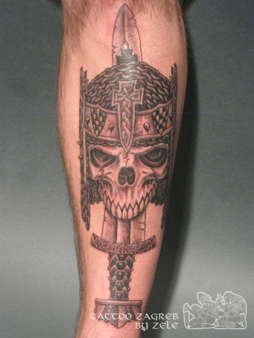 An eo Glagoljica tetova a Gungnir